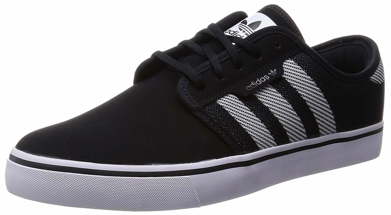 Adidas SEELEY WOVEN Black Men's White Black S85675 (328) Skateboarding Men's Black Shoes 5a101b