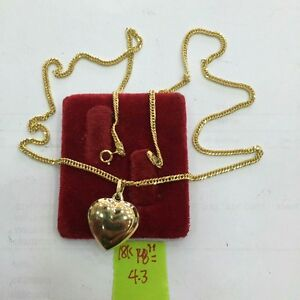 Gold-Authentic-heart-necklace-18k-saudi-gold-18-inches-chain