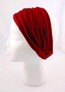 Wide Headband Thin Cotton Blend Fabric Wear Thick Thin Kerchief Dark Shades