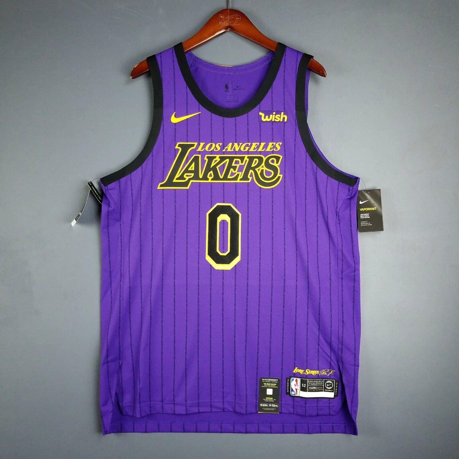 100% Auténtico Kyle Kuzma Nike Lakers Ciudad Camiseta Talla 52 XL Hombres -