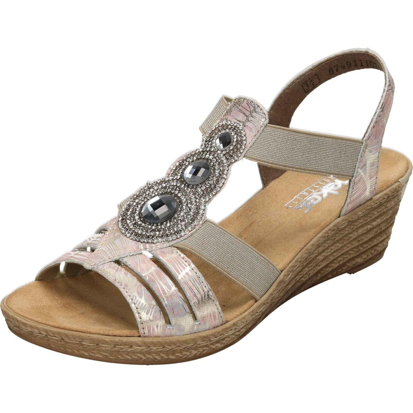 62459 40 Ladies Wedge Slingback Sandals Grey