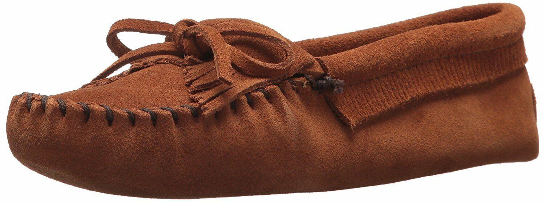 Minnetonka Women's Kilty Softsole Moccasin Brown