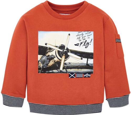 Mayoral Jungen Sweatshirt Gr 92-134 Pullover Rundhalsausschnitt Flugzeug-Motiv