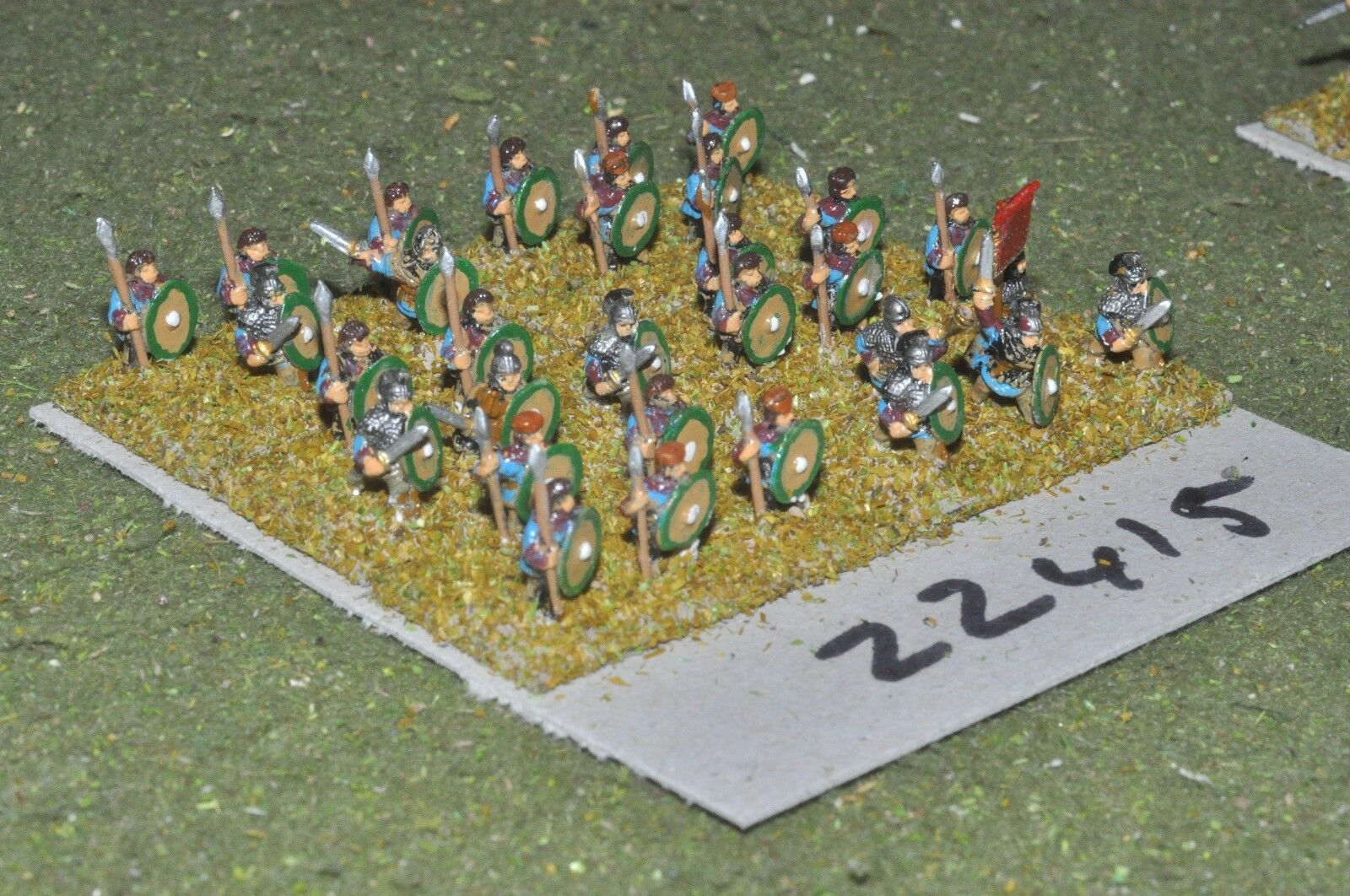 10mm Roman era   roman - late auxiliaries 30 figs - inf (22415)