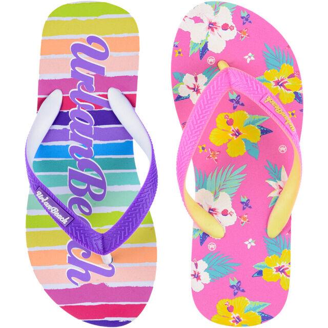 Disney® Minnie Mouse Girls Flip Flops Pool Beach Sandals UK Sizes 5yrs - 11yrs