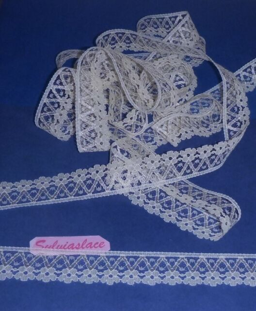 10  metres  of  Useful Light  Cream  Flat  Lace      3 cm wide