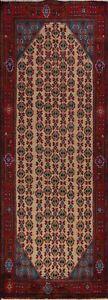 Geometric-Semi-Antique-Koliaei-Handmade-Runner-Rug-Hallway-Oriental-3-039-x9-039-Carpet