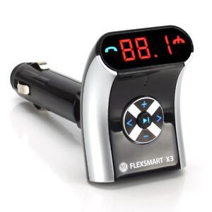 GOgroove-FlexSMART-X3-Compact-Wireless-FM-Bluetooth-Transmitter-amp-USB-Charging