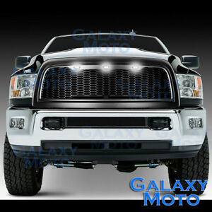 10-17-RAM-2500-3500-Raptor-Matte-Black-Replacement-Mesh-Grille-Shell-White-3xLED