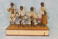 "18"" Long X 8"" Antique 4 Black Minstrel Automaton Gebruder Heubach dolls Ca. 1910"