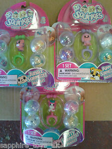PUPPY OR KITTY SURPRISE CHOOSE FROM JUNGLE SQUINKIES SURPRIZE BRACELETS