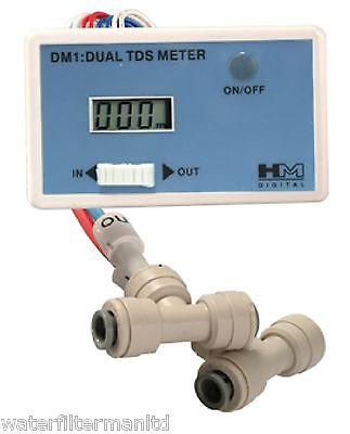 HM Digital DM-1, Dual Inline TDS Meter, Reverse Osmosis TDS Meter, Genuine DM1