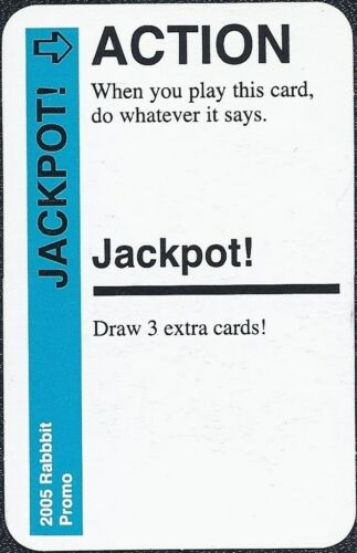"""FLUXX CARD GAME /""""Jackpot/"""" promo card Looney Labs NEW"""