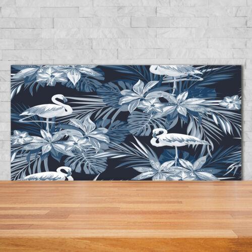 show original title Details about  /Kitchen Back Splash Protection Glass 140x70 Decorative Animals Flamingoes Plants