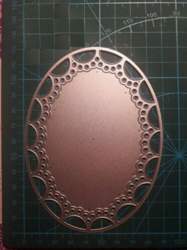 Metal Cutting Dies Wedding Lace Background Frame DIY Scrapbooking Mould Stencils