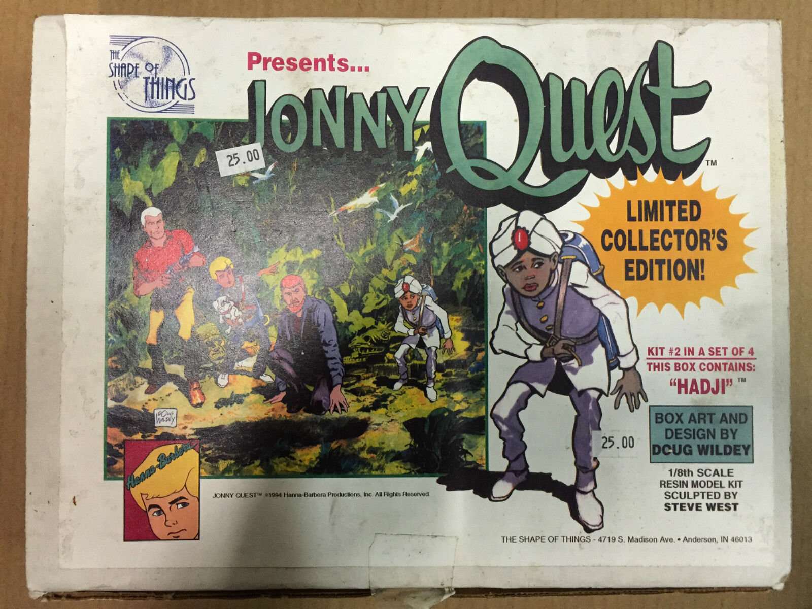 Jonny Quest Hadji Coldcast 1 8th scale the shape of things Model Kit 1994