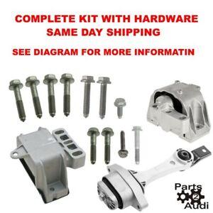 Engine Motor Mount Set Kit 98 06 Vw Beetle 1 8 1 8l 2 0 2 0l Bolts Hardware Ebay