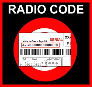 █► código de radio adecuado para continental Fiat peugeot jeep vp1 vp2 código serial ~ a2c