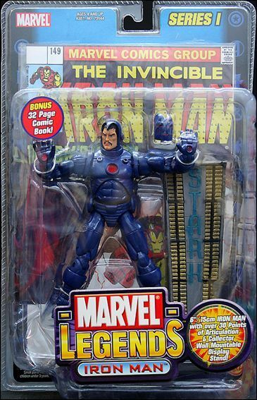 MARVEL LEGENDS_Stealth IRON MAN 6   Variant action figure_Series   1_TOY BIZ_MIP