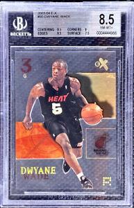 DWYANE-WADE-2003-04-FLEER-EX-CLEAR-ROOKIE-RC-90-MIAMI-HEAT-HOF-BGS-8-5