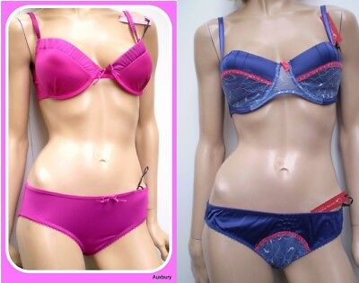 Loving Moments Boutique Quality Underwired Satinised Silky Bra Sets Mix /& Match