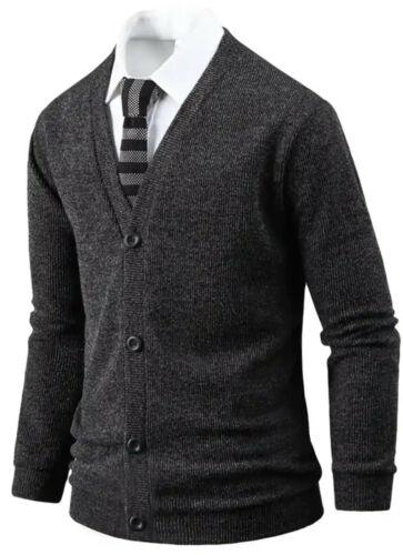 Mens Stylish Tight Embo Pocket Cardigan Jumper Casual Jacket Blazer Top T23 M//L