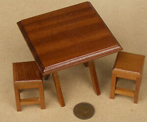 Delightful Image Is Loading 1 12 Scale Square Wooden Folding Table Amp