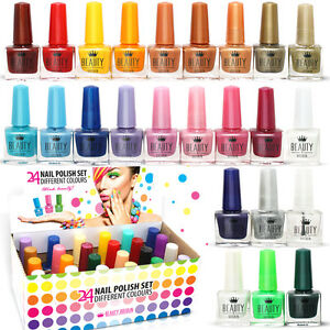24 x NAIL POLISH VARNISH (SET A) 24 DIFFERENT COLOURS THE BEST GIFT UK SELLER