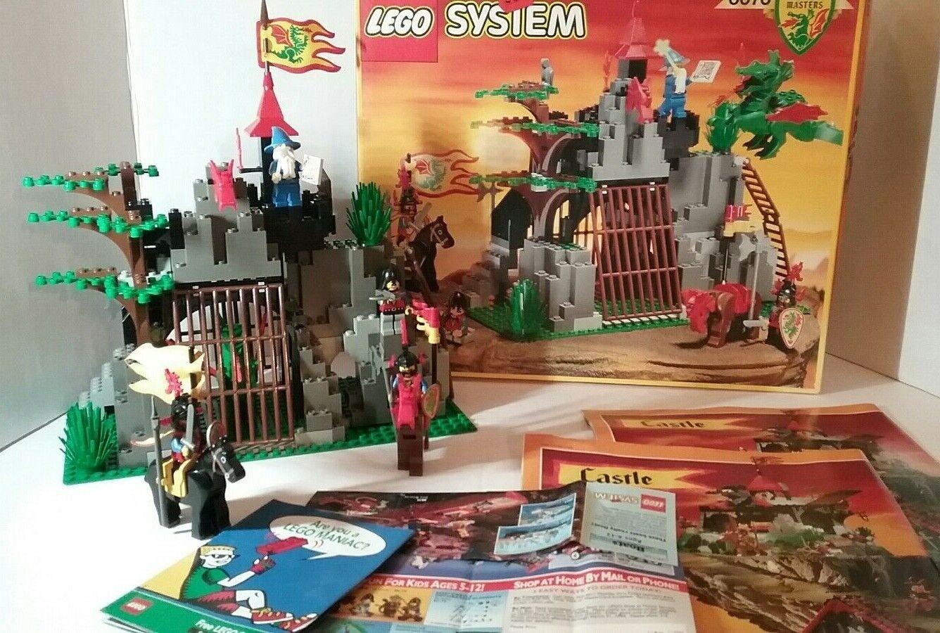 Lego 6076 Oscuro Dragon's Den completo con caja, instrucciones, inserción de anuncios