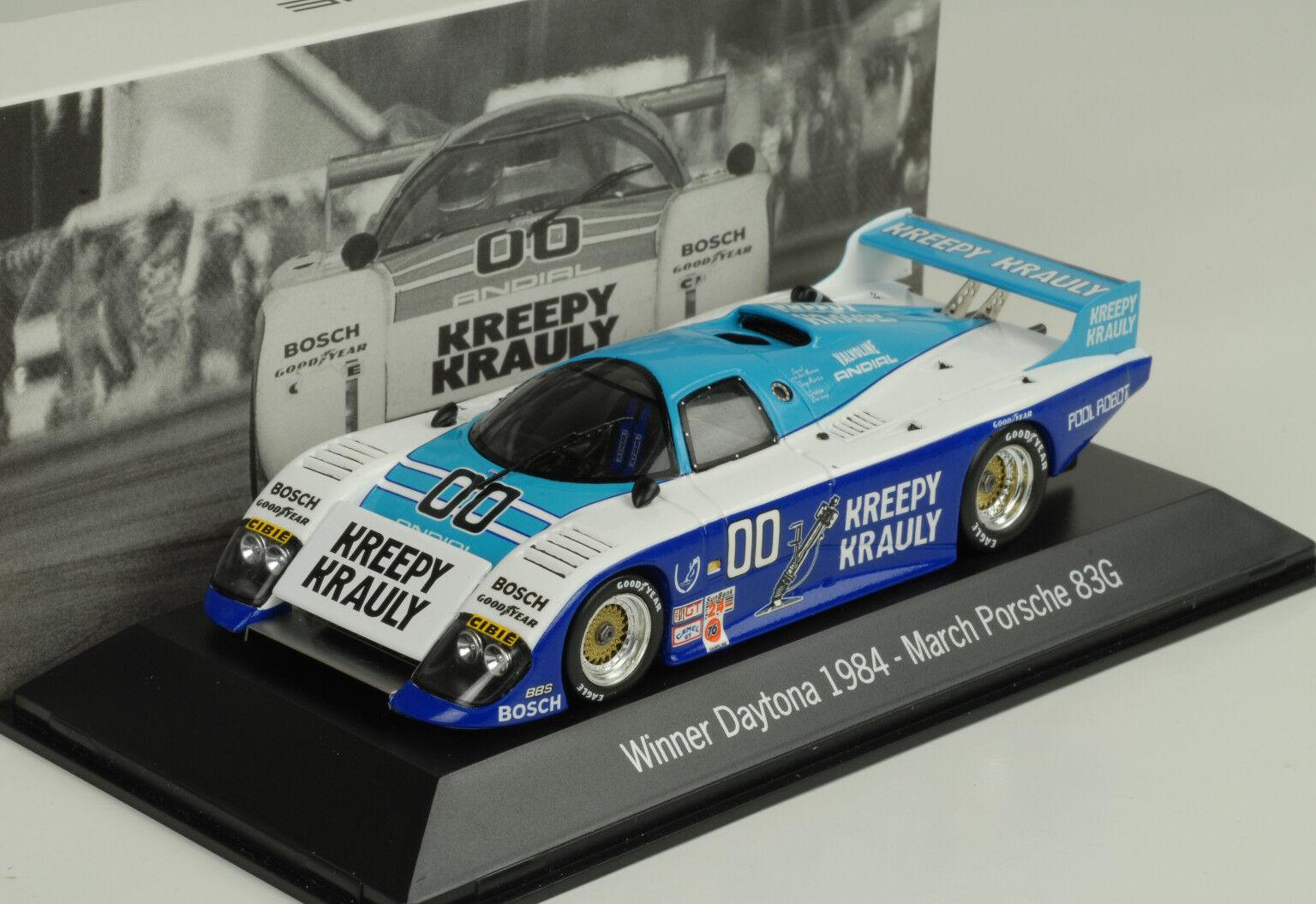 March Porsche 83G Kreppy  00 Vincitore Daytona 1984 1:43 Map Museo Spark