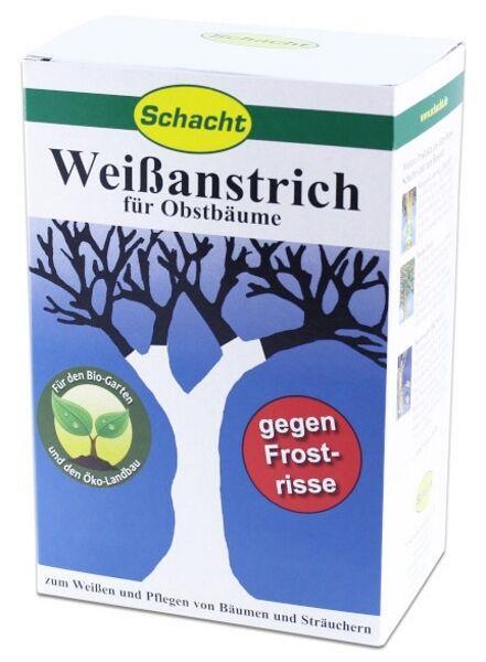 Schacht Weissanstrich 1 kg Frostschäden Frostrisse Obstbäume