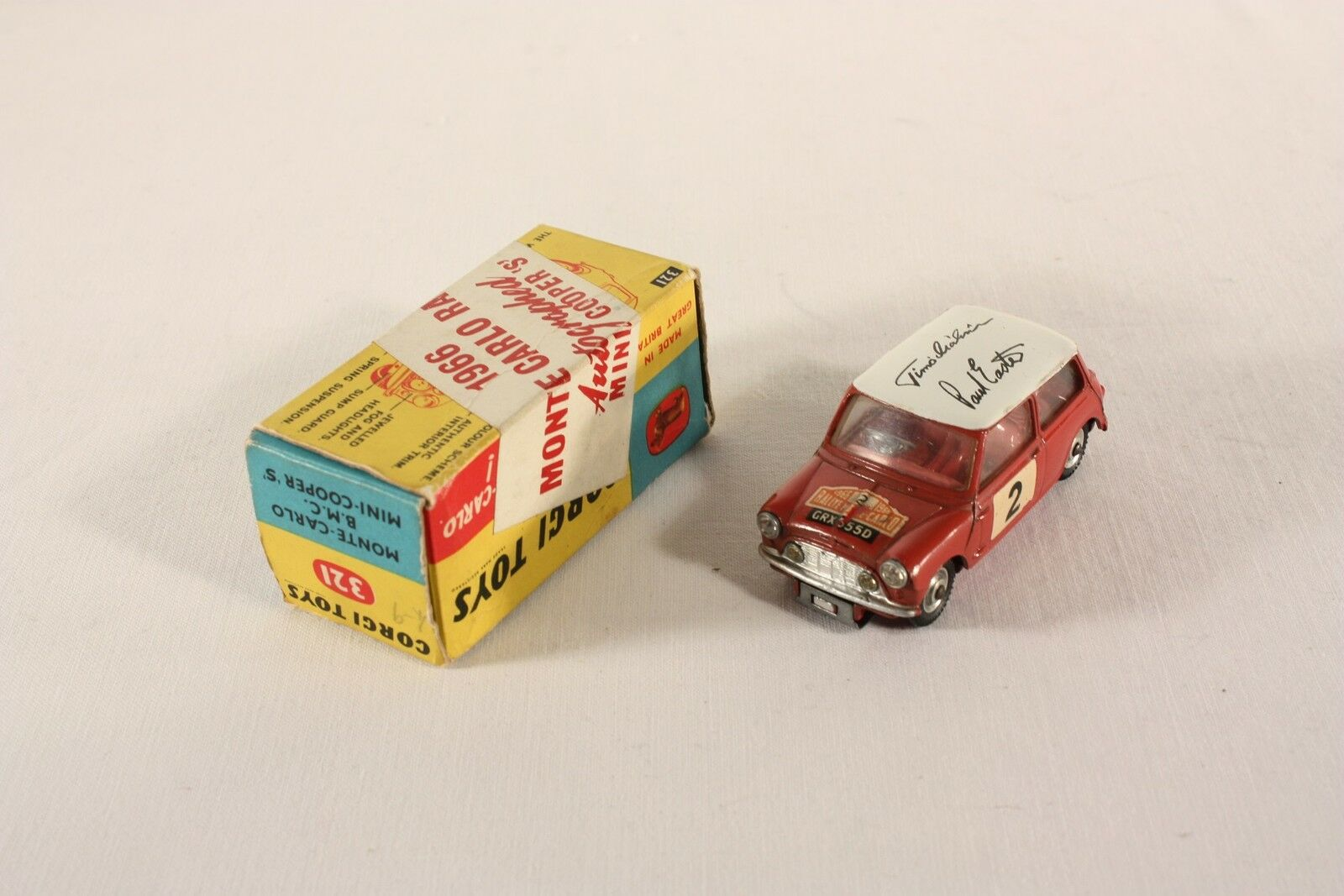 Corgi Toys 321, BMC Mini Cooper'S Monte Carlo 1966, Autografiada ab925