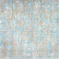 Noble Excellence Villa Salerno King Quilt Set Teal Blue Medallion Damask Floral