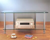 Vti Glass Audio Video Tv Stand, Agr44 Black / Silver, Brand New,free Shippping