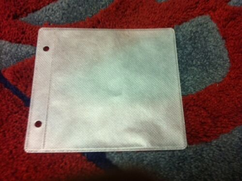 10 Double 2 CD//DVD Binding Sleeve w//Disc Protective Fabric White  SF006White