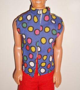 993083f14d6 ... Barbie-vetement-accessoire-vintage-KEN-Chemise-sans-manches