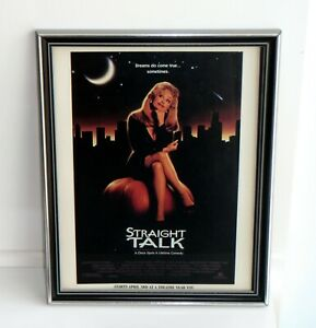 Straight-Talk-Movie-Framed-Original-Vintage-1992-Ad-Dolly-Parton-James-Woods