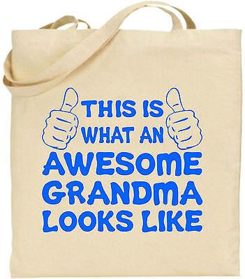 Toll OMA GROß Baumwolltasche Einkaufstasche Leinen Muttertag lustiges Geschenk