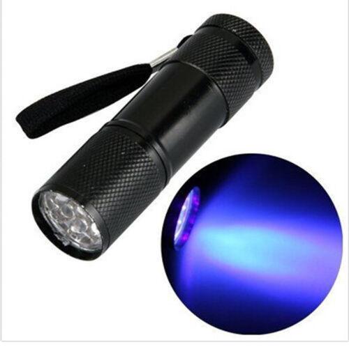 Ultra Violet 390-410nm 100 LED Flashlight Inspection UV Blacklight Torch Lamp