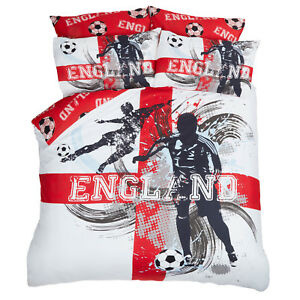 Dreamscene-England-Football-Duvet-Cover-with-Pillow-Case-Bedding-Set-Red-White