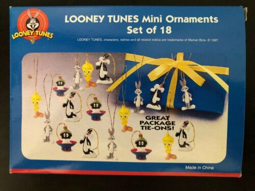 Pkg Tie Ons Looney Tunes Box Set Of 18 Mini Character Ornaments