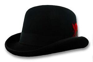 4b9a8f51a0240 Scala Black Wool Derby Hat Bowler S M L XL Men Women Dress Tuxedo ...