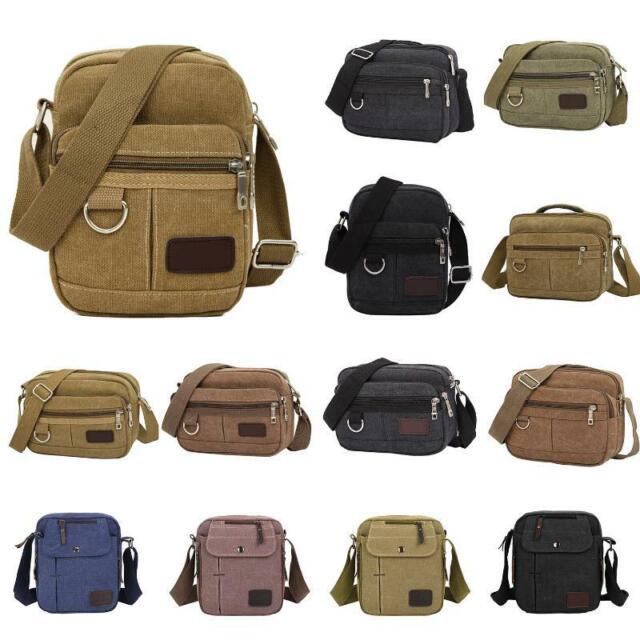 Men Canvas Shoulder Satchel Bag Casual Travel Pack Crossbody Messenger Bags Tote