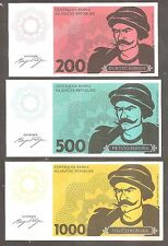 Republic of Hadjucka * Europe's only Microstate with Banknotes. 3 piece set  UNC