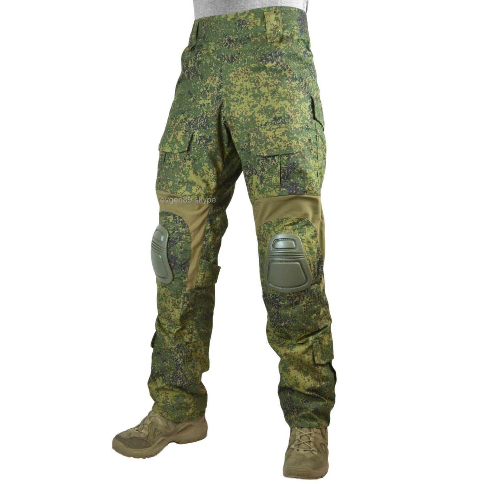 Ana táctico ruso Combate Pantalones EMR Digital Flora G3 Con Rodilleras