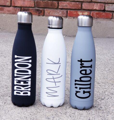 Water Bottle Personalized Custom Vinyl