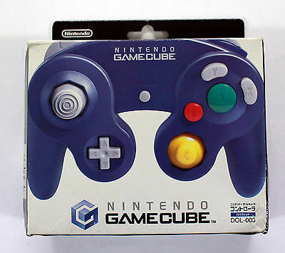 Nintendo GAMECUBE GAME CUBE NGC CONTROLLER JOYPAD JAPAN PURPLE Box DOL-003
