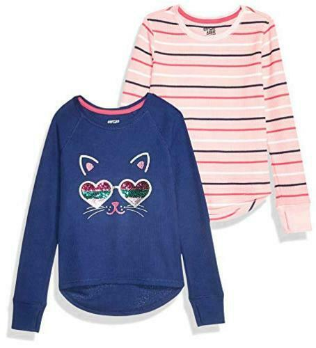 Cats Size Toddler 6.0 Brand Spotted Zebra Girls/' 2-Pack Long-Sleeve