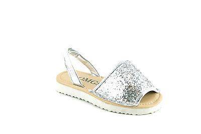 Kids Bebés menorquina ESLINGA vuelta Peep Toe De Flip Flop Brillo Sandalias Zapatos Talla