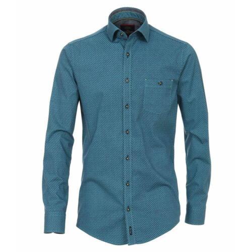 Modisches In blau Hemd Fit Stretch Gemustert Casa Tollem Smaragd Casual Moda 1qw544naf